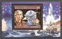 Centrafrica 1985, Columpus, BF GOLD - Christopher Columbus