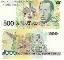 244 BRASILE 500 CRUZEUROS  FDS NUOVI - Brésil