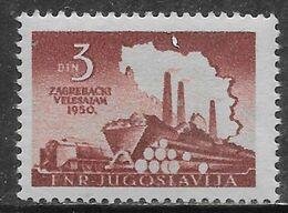 Yugoslavia 1950 Zagreb Fair Mi N.621 MH * - Neufs