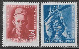 Yugoslavia 1951 Bosnia Uprising Mi N.664-665 Complete Set MH * - Neufs