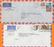 """KENYA Lot De 8 Enveloppes Avec Entetes  PUB  """"Ambassade Et Conseiller De France """"  Années Mélangées - Kenia (1963-...)"""