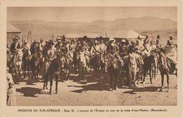 MISSIONS DU SUD AFRIQUE   L' ESCORTE DE L' EVEQUE   ( BASUTOLAND ) - Missionen