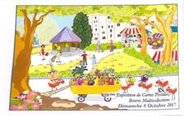 59 - FOURMIES : Le Marché ( Illustration )  39 ème Exposition De Cartes Postales - Bourse Multicollections 2017 - CPM GF - Collector Fairs & Bourses