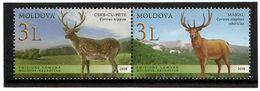 Moldova 2008 . Fauna. Deers. J/w Kazakhstan. Pair Of 2v: 3L,3L . Michel # 623-24 - Moldavia