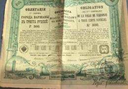 Emprunts Russes: 3 Obligations (Ville De Varsovie, Forges Et Aciéries Du Donetz) - Ohne Zuordnung