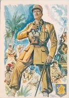 Militaria - PHILIPPE LECLERC DE HAUTECLOCQUE MARECHAL DE FRANCE - CPM POUR LA CONTRIBUTION NATIONALE AU MONUMENT - Weltkrieg 1939-45
