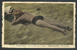 +++ CPA - NIEUPORT BAINS - NIEUWPOORT - Bain De Soleil Sur La Plage - Zonnebaden   // - Nieuwpoort