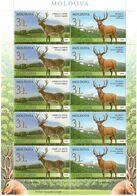 Moldova 2008 . Fauna. Deers. Sheetlet Of 10 (5 Pairs) . Michel # 623-24 KB - Moldavia