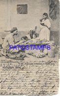 139552 AFRICA EGYPT CAIRO COSTUMES RESTAURANT ARAB YEAR 1906 POSTAL POSTCARD - Cartoline