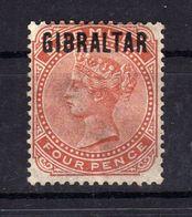 GIBRALTAR 1886 Yv 5 Cote 185 NSG Sign - Gibraltar