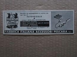 - ADVERTISING PUBBLICITA'  FABBRICA ITALIANA ACCESSORI CONTI  - 1961 - Reclame