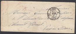 """France 1853 - Précurseur De Paris à Destination St. Cernin-du-Cantal   La Poste à Paris""""   (VG) DC-7848 - France"""