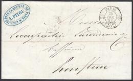 """France 1853 - Précurseur De Paris à Destination Honfleur   La Poste à Paris"""".   (VG) DC-7846 - France"""