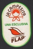 Stikers Calzaturificio FLAP La Campesita Footwear Scarpe Chaussure FAS00076 - Sammelbilder, Sticker