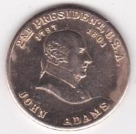 Jeton / Token . John Adams 2nd US President (1797 - 1801) - Autres