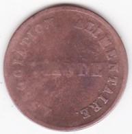 Jeton Ville De Grenoble 1850. Association Alimentaire - Viande - Firma's