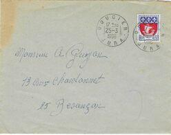 1966 / Enveloppe Cachet De Doucier 39 Jura - Marcofilie (Brieven)