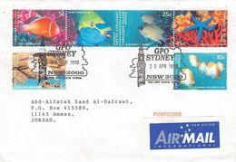 CHRISTMAS ISLANDS - AIRMAIL 1998 SYDNEY - AMMAN/JORDAN /T160 - Christmas Island