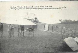 BRUXELLES Meeting D' Aviation De Stockel 1910.Olieslagers Dans Son Monoplan Blériot - Aeroporto Bruxelles