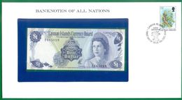 Cayman Islands  1 Dollar L1971 (1972)  QEII  Prefix A/2  P1b  BANKNOTES OF ALL NATIONS  UNC - Isole Caiman