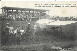 BRUXELLES Meeting D' Aviation De Stockel 1910.Olieslagers Après Un Vol De 2 Heures - Aeroporto Bruxelles