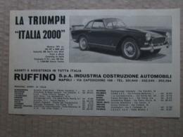 - ADVERTISING PUBBLICITA'  TRIUMPH ITALIA 2000 - RUFFINO - 1961 - Reclame