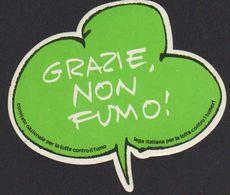 Stikers Grazie Non Fumo Lotta Contro Il Fumo Lotta Contro I Tumori Fight Against Smoking Fight Against Cancer FAS00077 - Sammelbilder, Sticker