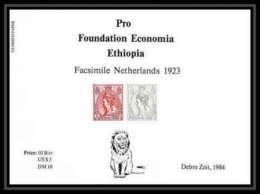 339 - Ethiopie MNH ** Bloc Pro Foundation Economia Ethiopia Bloc Netherland / Lion 1923 / 1984 - Raubkatzen