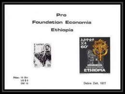 342 - Ethiopie MNH ** Bloc Pro Foundation Economia Ethiopia Crosses Ethiopia 1977 - Ethiopie