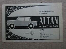 - ADVERTISING PUBBLICITA'  AUTAN ZANZARE IN FUGA - BAYER  - 1961 - Reclame