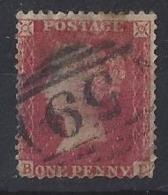 "GB....QUEEN VICTORIA..(1887-01)...""1856..""...1d RED....LARGE CROWN.....PERF 14......USED... - 1840-1901 (Regina Victoria)"