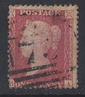 "GB....QUEEN VICTORIA..(1887-01)...""1856..""...1d RED......LARGE CROWN.......PERF 14.....USED. - 1840-1901 (Regina Victoria)"