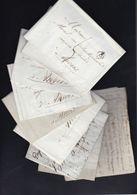 LOT De 10 Précurseurs à Madame Morel  Et Au Citoyen Joseph Morel - 1794-1814 (French Period)
