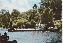 Pont-Sainte-Maxence Bords De L'Oise Edit Mage Postée 1973 Peniches Batellerie - Pont Sainte Maxence