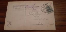 Carte Fantaisie Affranchie à 5 Cent (avec Trace D'un Timbre De 10 Cent!) Oblitérée MAESEYCK En 1915. Censure POSTAMT - Other
