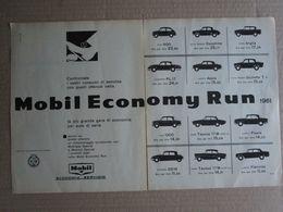 - ADVERTISING PUBBLICITA' MOBIL ECONOMY RUN  - 1961 - Reclame
