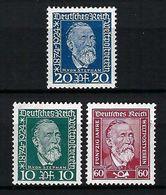 ALLEMAGNE 1924:  Les Y&T 359-361 Neufs* - Ungebraucht