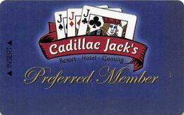 Cadillac Jack Casino Deadwood, SD - BLANK Slot Card - No Phone# Or Address On Reverse - Carte Di Casinò