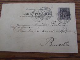 France: 2 Cartes Vues Oblitérées PARIS EXPOSITION RAPP En 1900 Et BEAUX-ARTS En 1900 - 1877-1920: Semi-moderne Periode