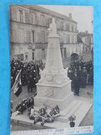 17 : TONNAY-BOUTONNE : CARTE PHOTO , INAUGURATION Du MONUMENT Aux MORTS En 1920, Animée,C.P.A.,en Bon état - Altri Comuni