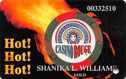 Casino Rouge - Baton Rouge, LA - Slot Card - GOLD Level - Carte Di Casinò