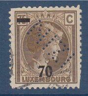 Perforé Luxembourg 70 Sur 75 Oblitéré Perforé NIZI - Sonstige