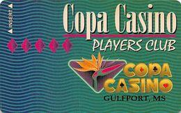 Copa Casino Gulfport, MS - Slot Card - Manufacturing Error Missing Magnetic Stripe - Carte Di Casinò