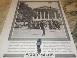 ANCIENNE PUBLICITE SEMELLE WOOD-MILNE SUR LES BRAS 1930 - Reclame