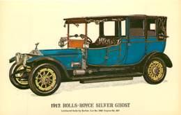 Automobiles - Voitures De Tourisme - Rolls-Royce Silver Ghost - Art Dessin - Carte Neuve - CPM - Voir Scans Recto-Verso - Voitures De Tourisme