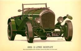 Automobiles - Voitures De Tourisme - 1925 3 Litre Bentley - Art Dessin - Carte Neuve - CPM - Voir Scans Recto-Verso - Voitures De Tourisme