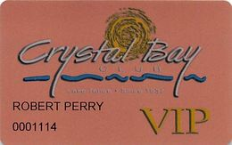 Crystal Bay Casino Lake Tahoe, NV - Slot Card With 775-833-6333 Phone# - Carte Di Casinò