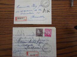 10 Recommandés Affranchis Aux Types POORTMAN Et MARCHAND (années 60-70) Bureaux De GEDINNE,METTET, BRUXELLES 33, ST GILL - 1936-1951 Poortman
