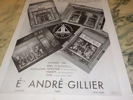 ANCIENNE PUBLICITE BONNETERIE  JIL ETABLISSEMENT ANDRE GILLIER 1930 - Reclame