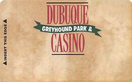 Dubuque Greyhound Park & Casino Dubuque, IA - BLANK Slot Card - No Text Over Mag Stripe - Carte Di Casinò